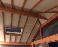 Faux plafond isolée en poutre apparente