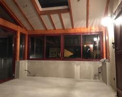 Faux plafond et doublage de mur de véranda