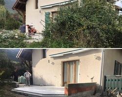 Réalisation de terrasse pour futur véranda